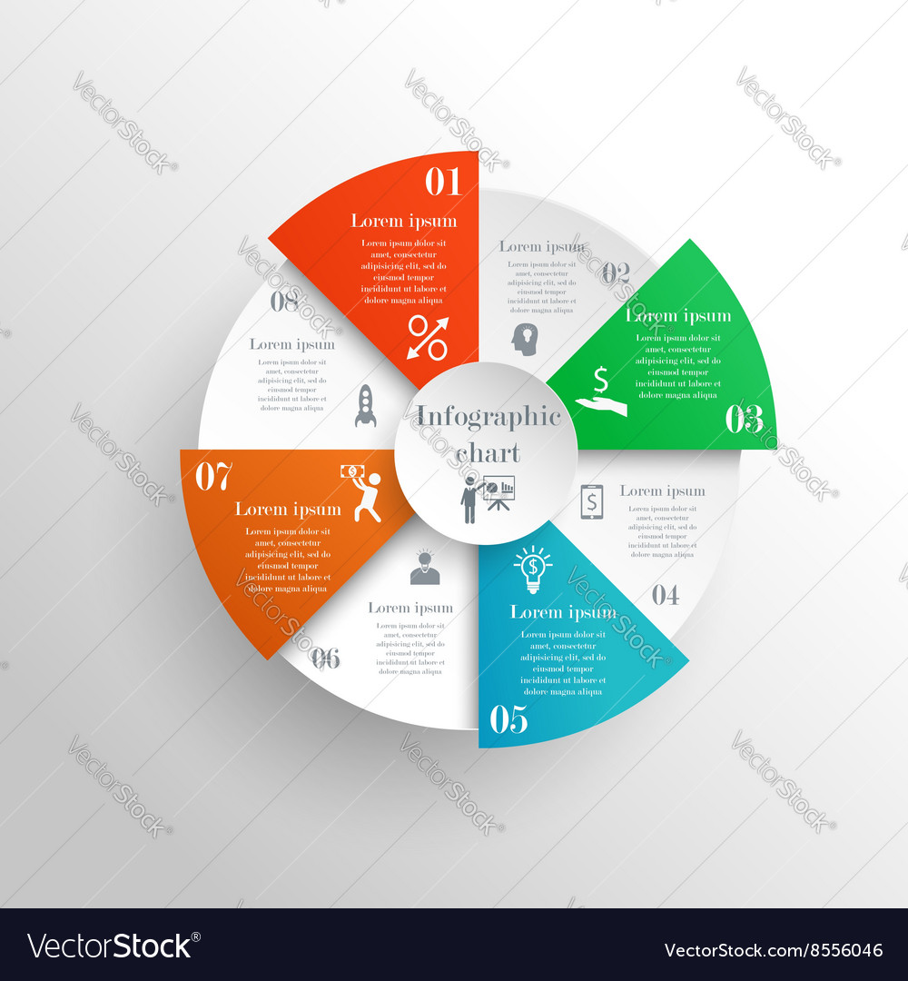 Abstract circle infographic chart