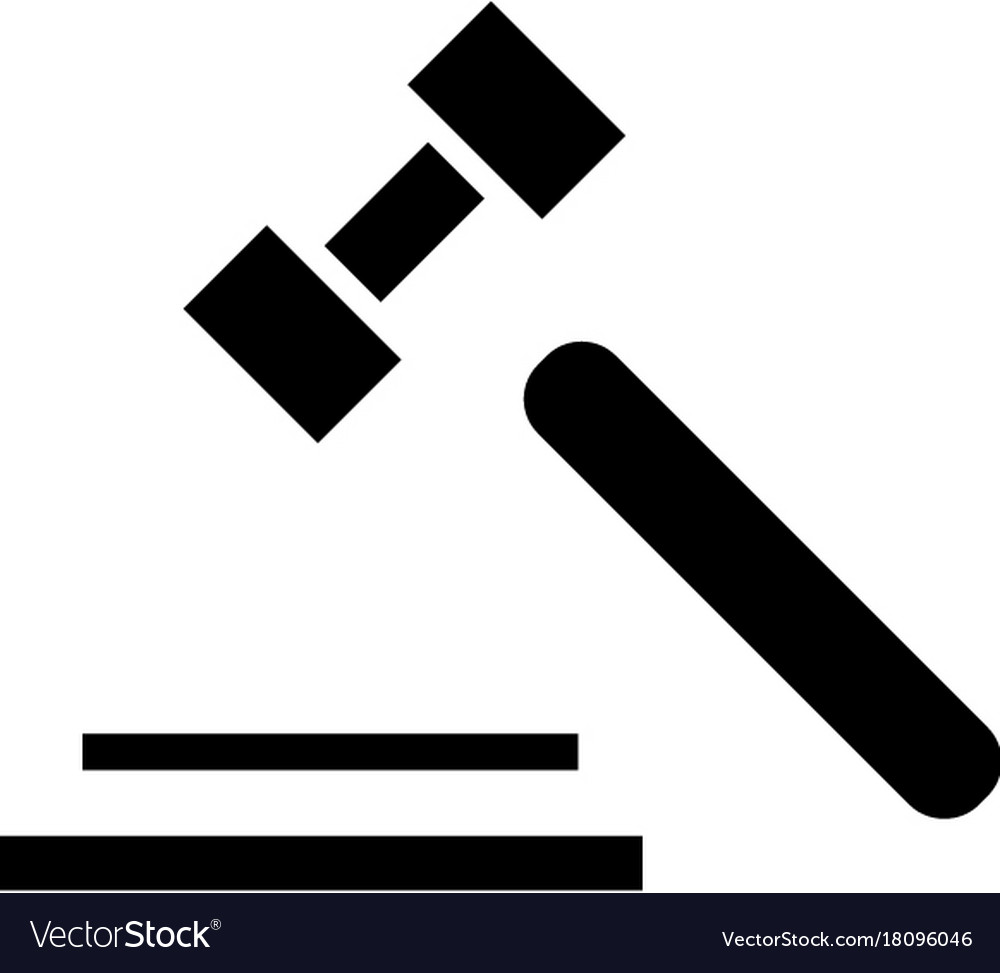 Auction hammer icon black vector image