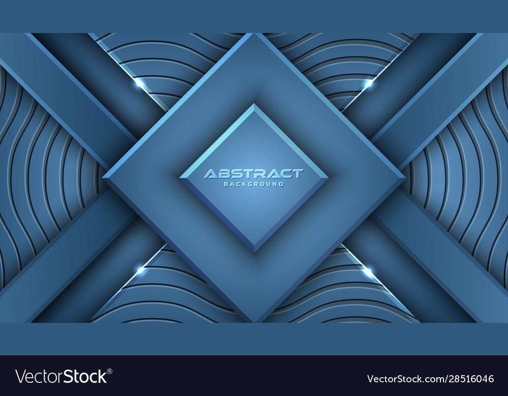 Classic blue background with 3d style rectangle