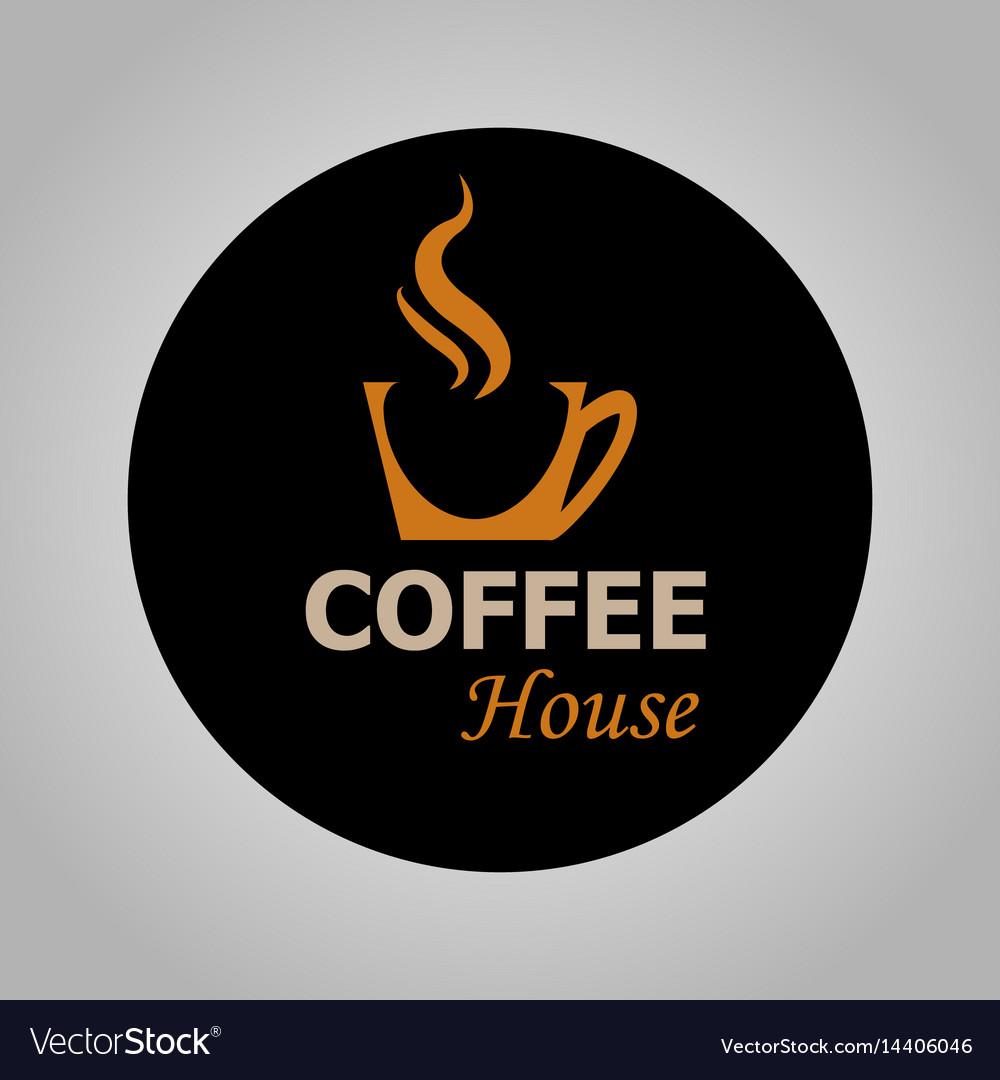 Coffee house logotype vector image