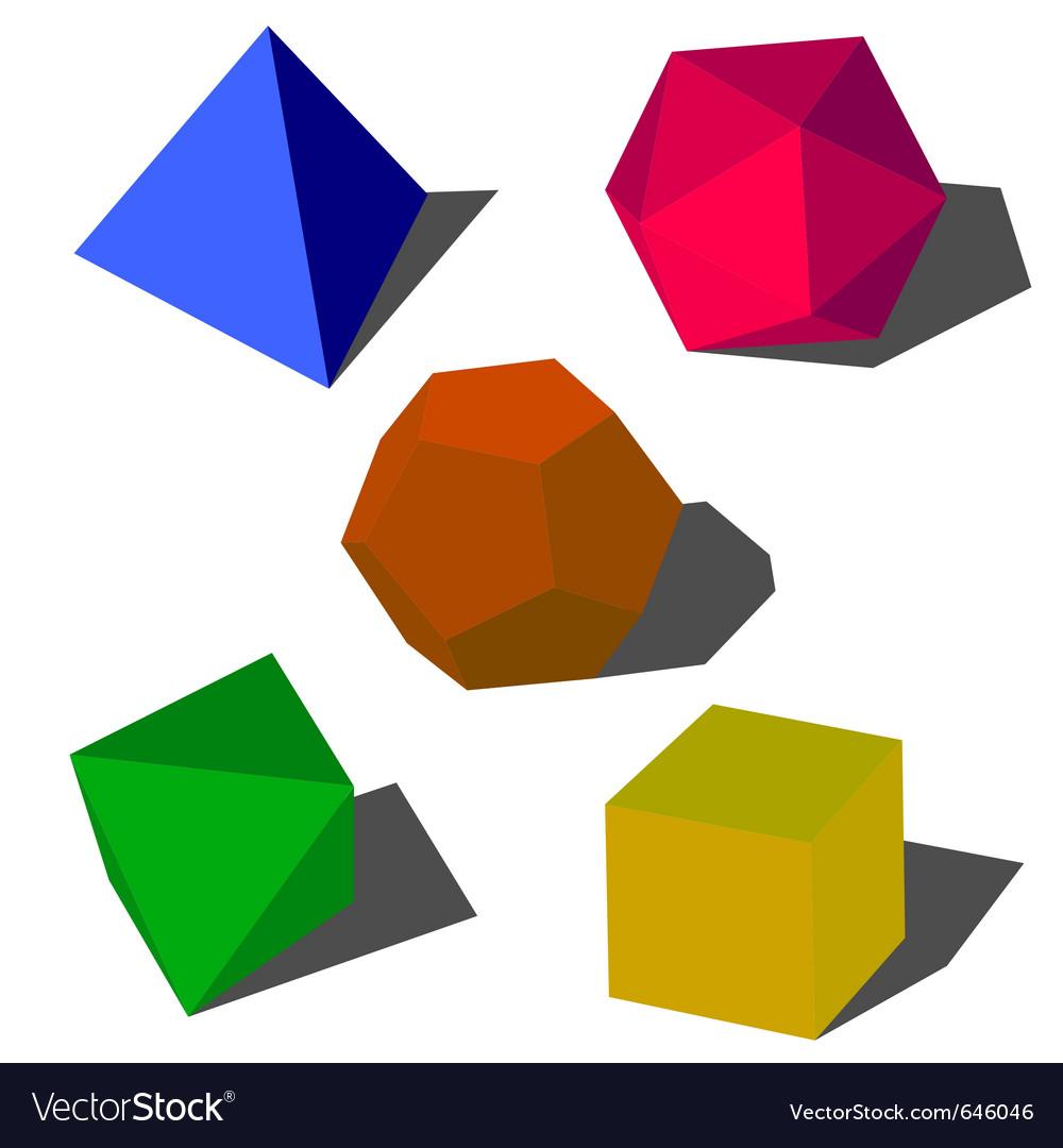 Colorfull 3d geometric shapes