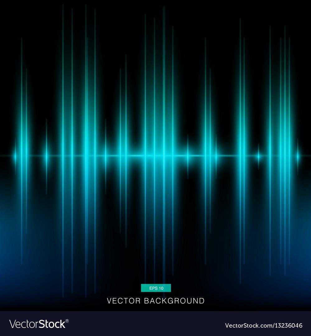 Dark modern turquoise background vertical laser vector image