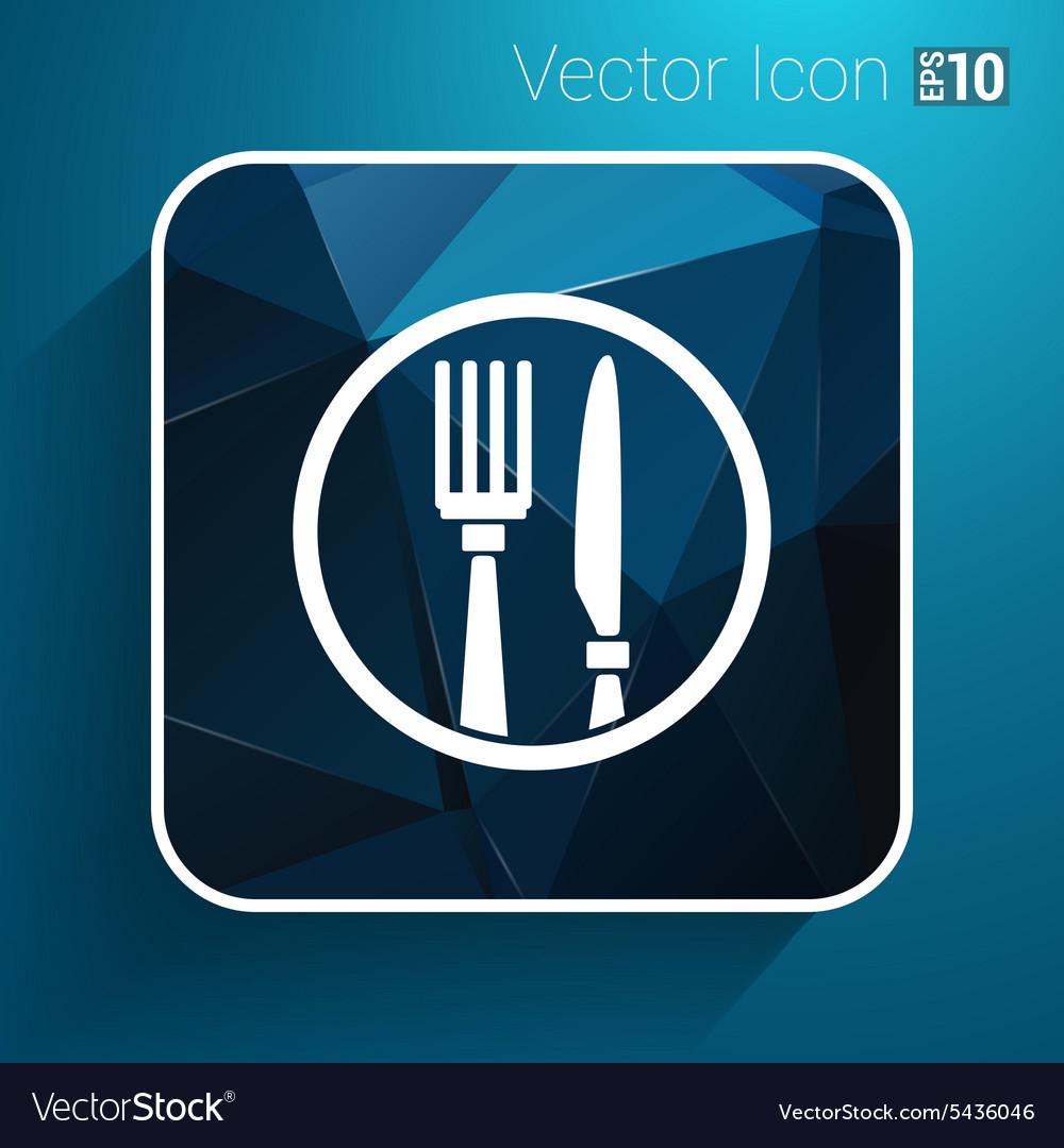 Food service logo design template cafe