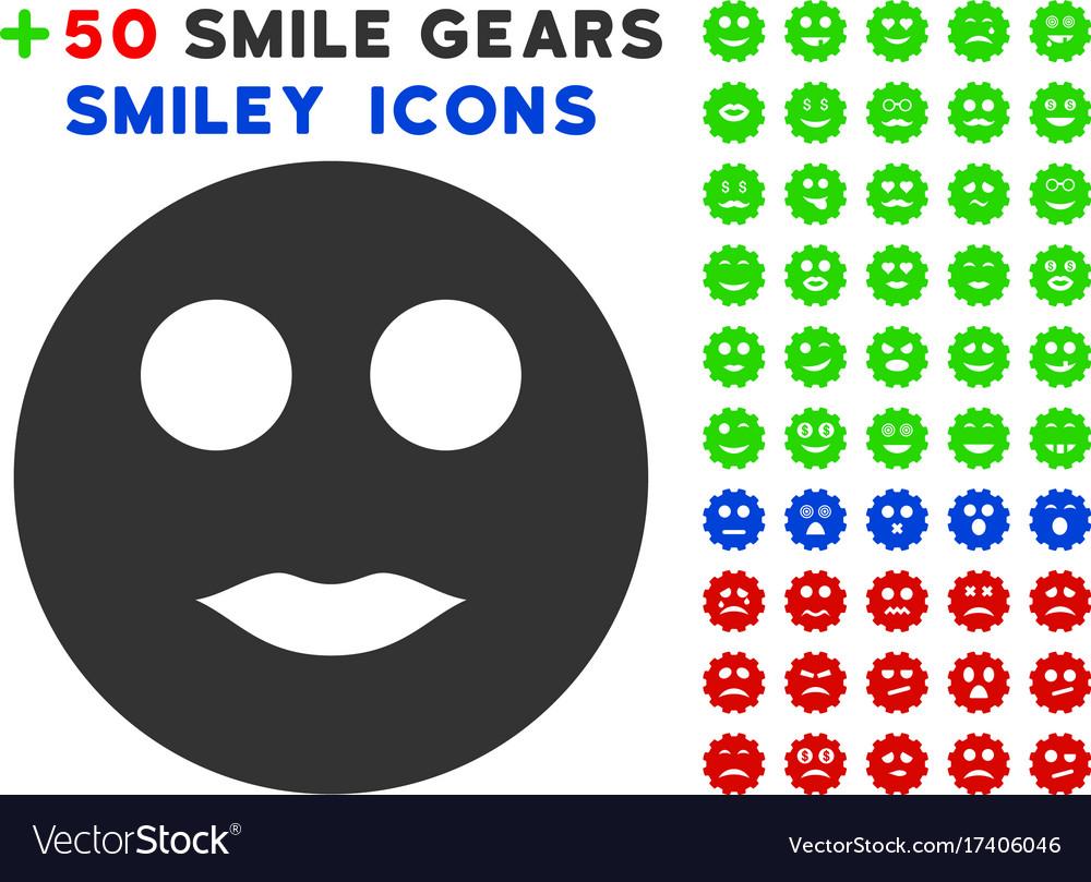 Lips smiley icon with bonus smile collection