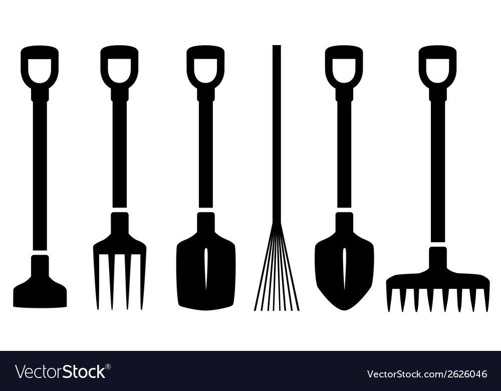 Set Isolated Garden Tools Royalty Free Vector Image