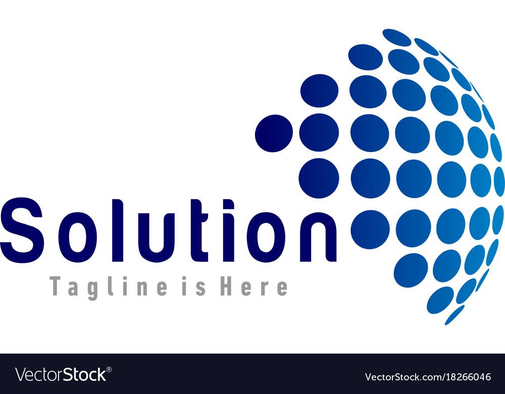 Solution tech logo vector image