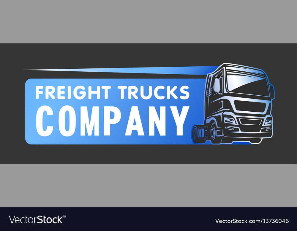 Truck cargo freight company logo template