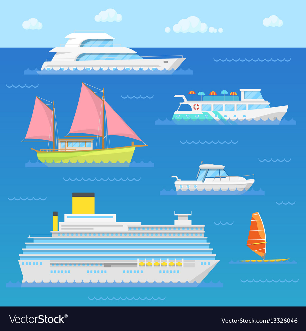 Water transport with ship liner boat