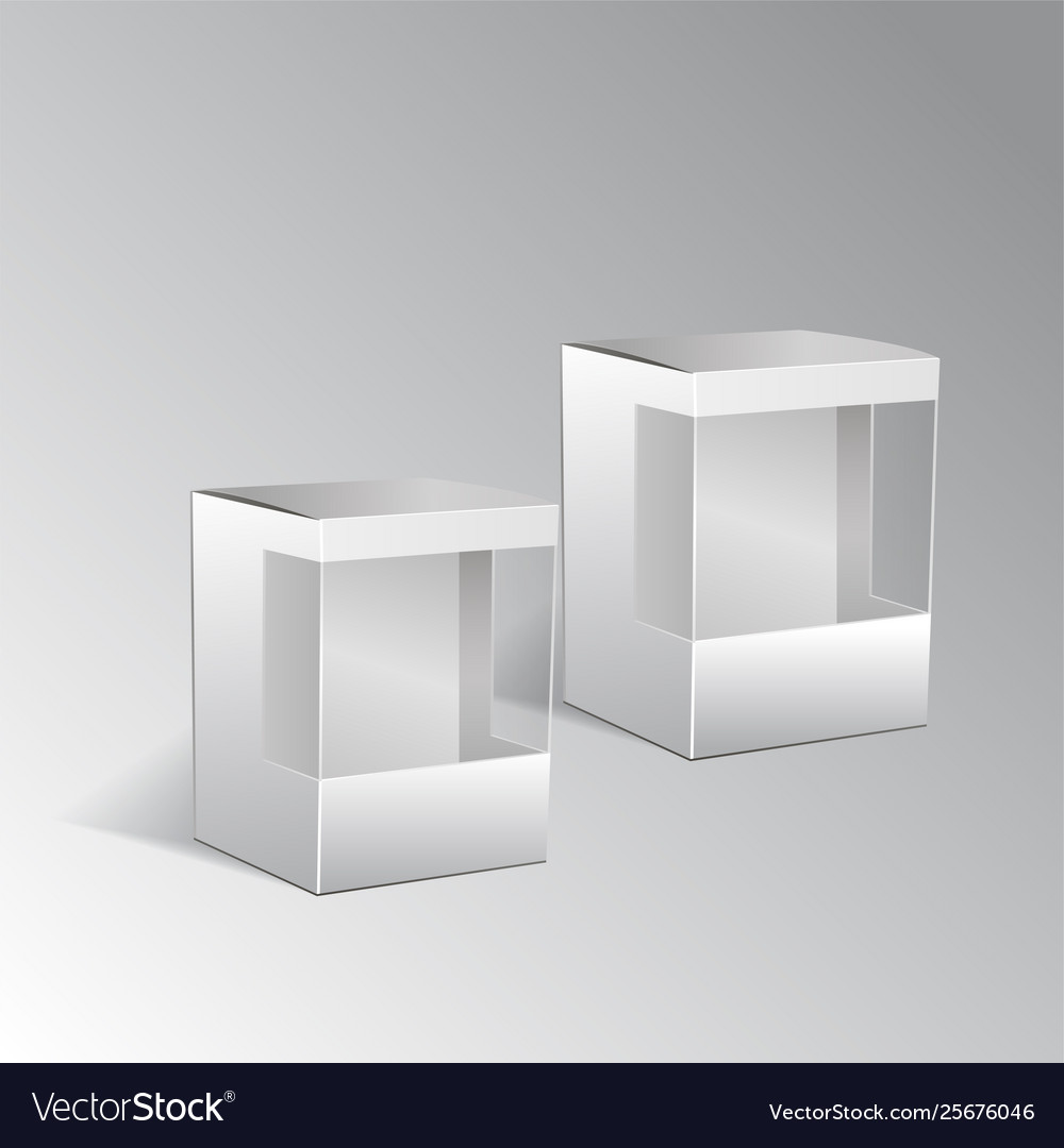 White Cardboard Gift Box Set With Window