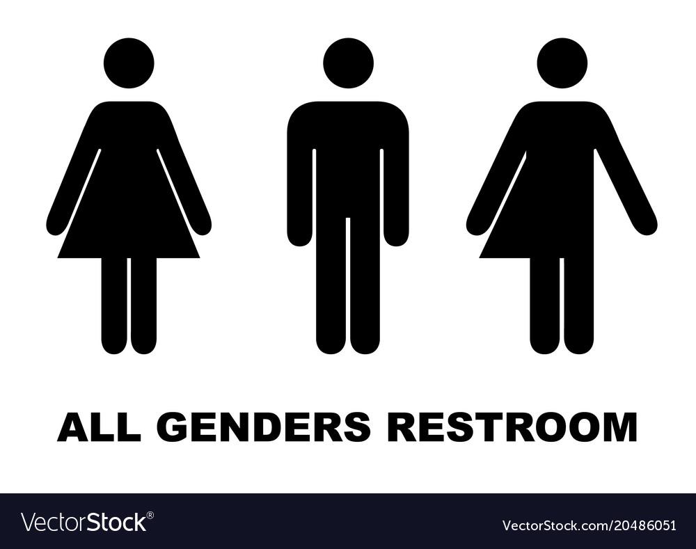 . All gender restroom sign male female transgender