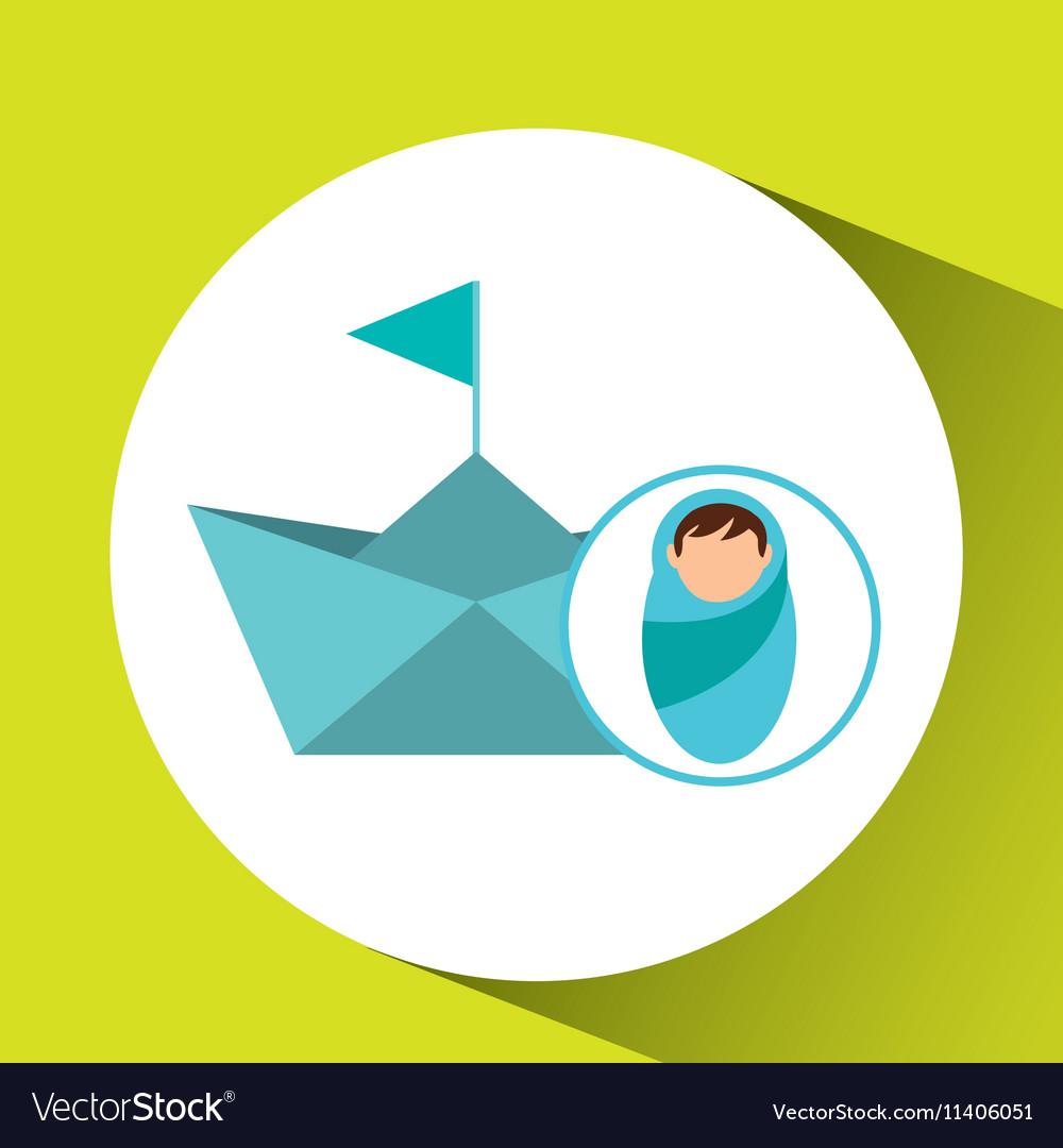 Boy newborn wrap paper ship design