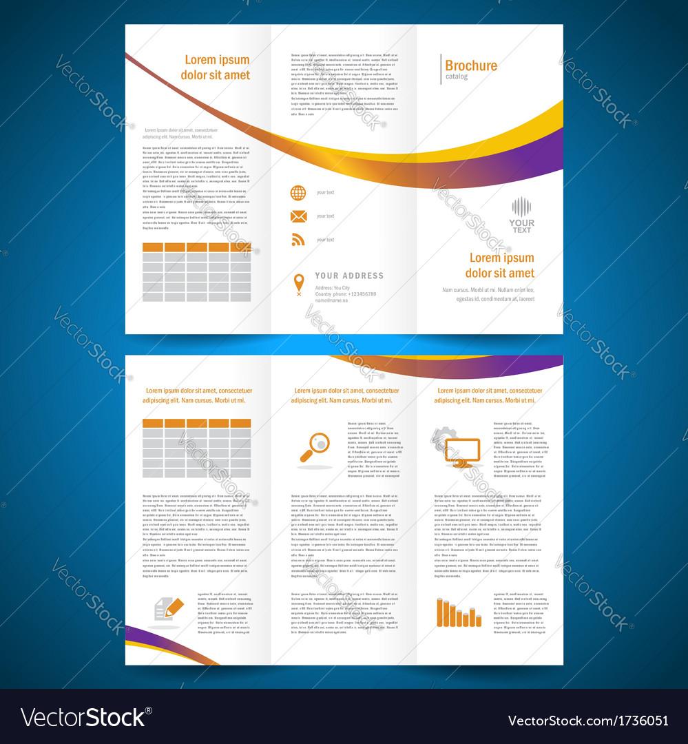 Brochure folder leaflet color yellow line
