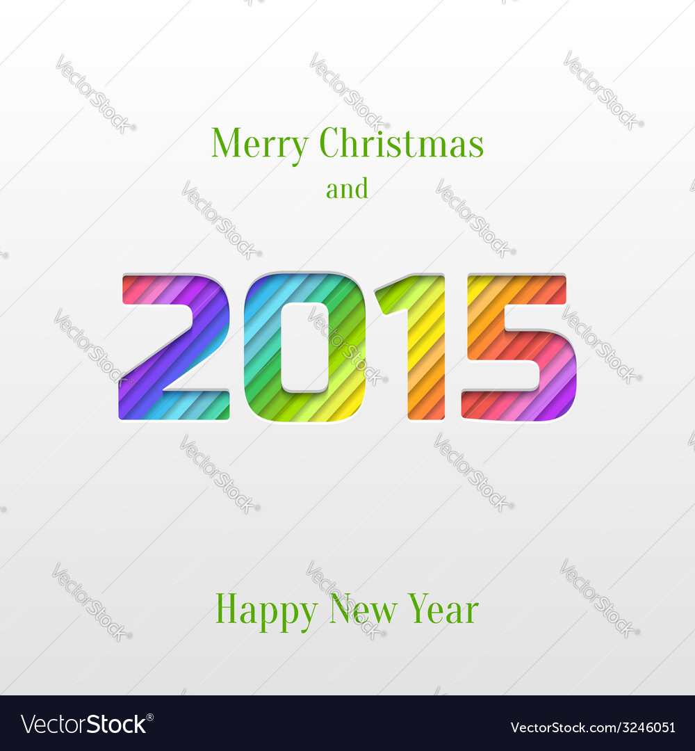 Creative 2015 happy new year greeting card vector image m4hsunfo