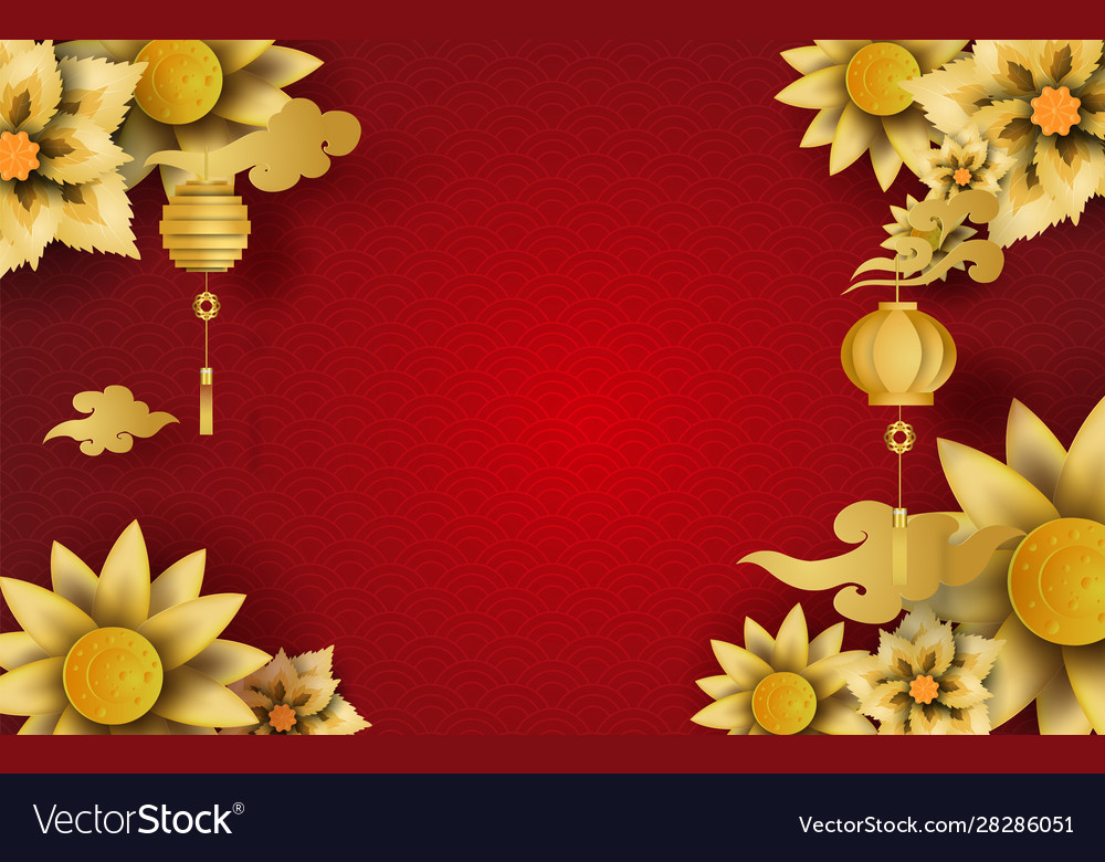 Happy chinese new year flower blossom