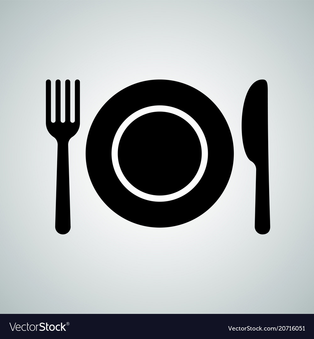 Plate spoon fork cutlery icon