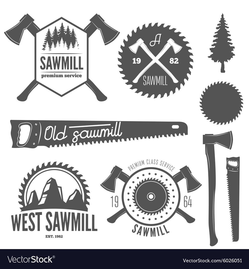 Set of badge labels or emblem elements for
