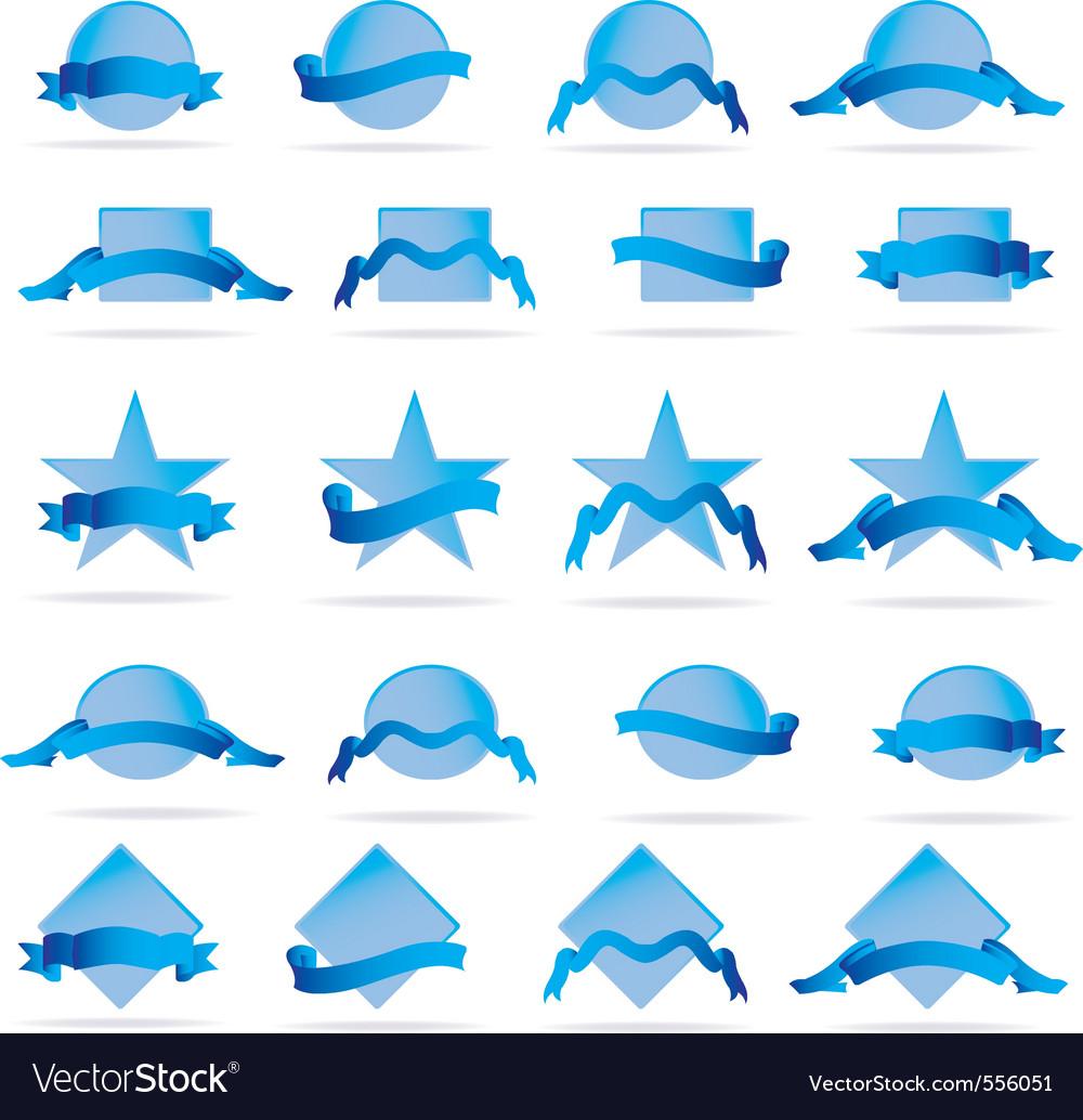 Shields elements vector image