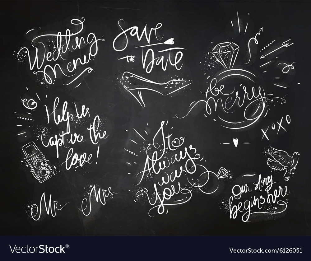 Wedding signs black