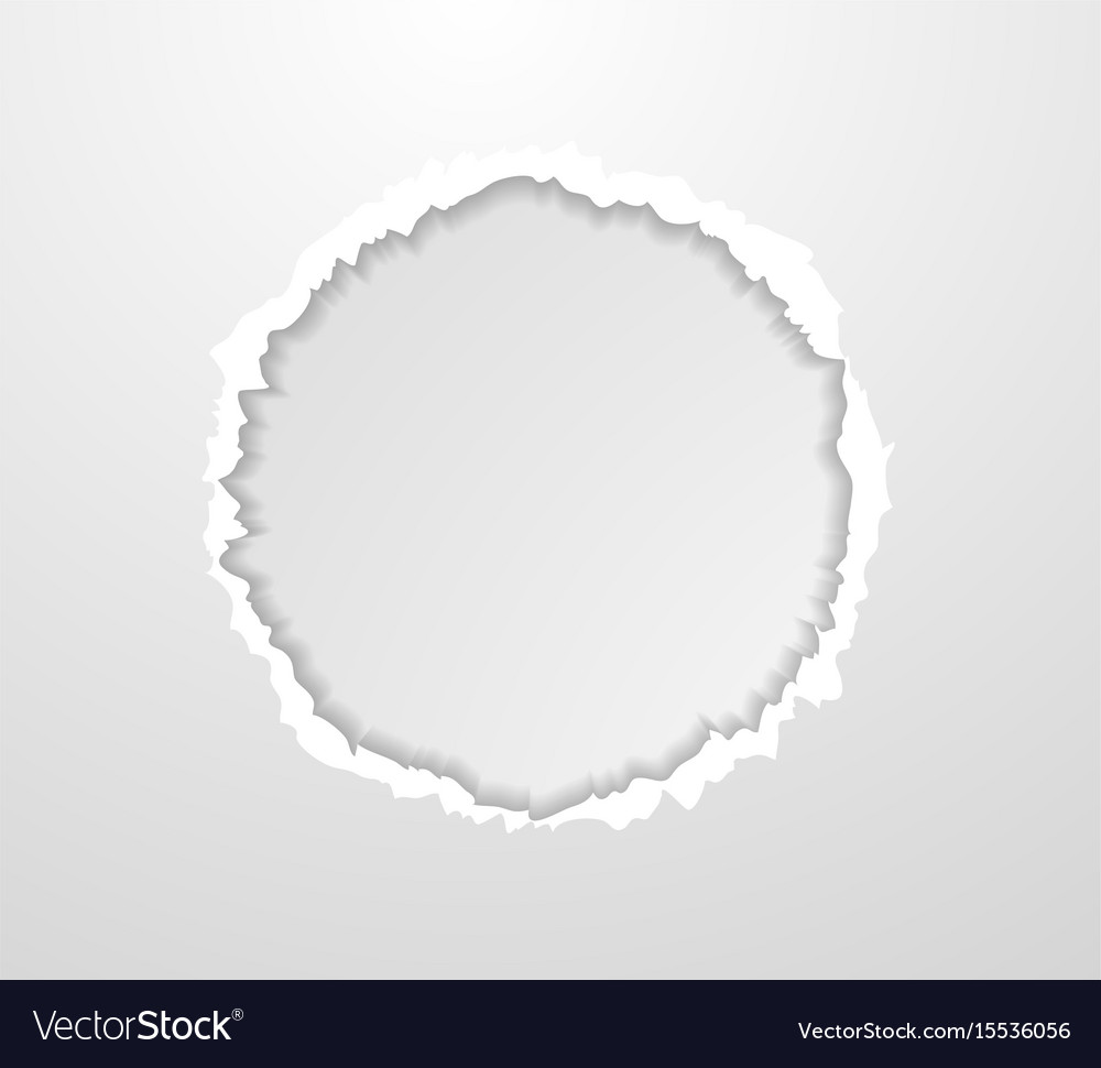 Abstract circle torn paper edge background