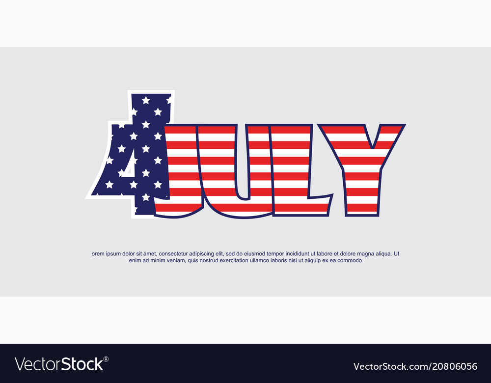 American independence day-4th july bnner