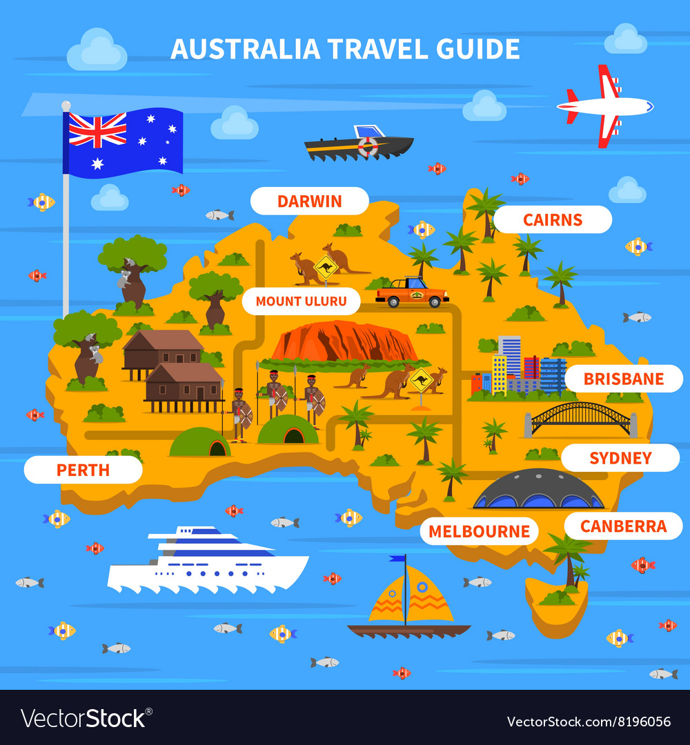 Australia Travel Map.Australia Travel Guide