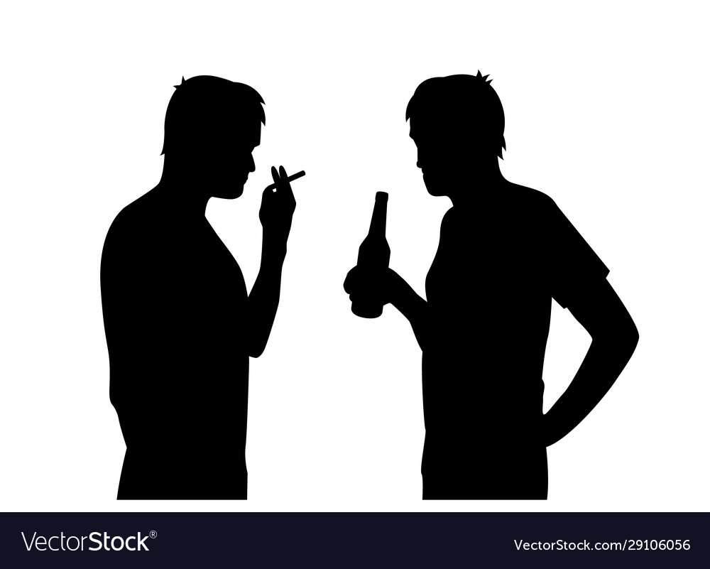 Bad habits smoking and alcoholism