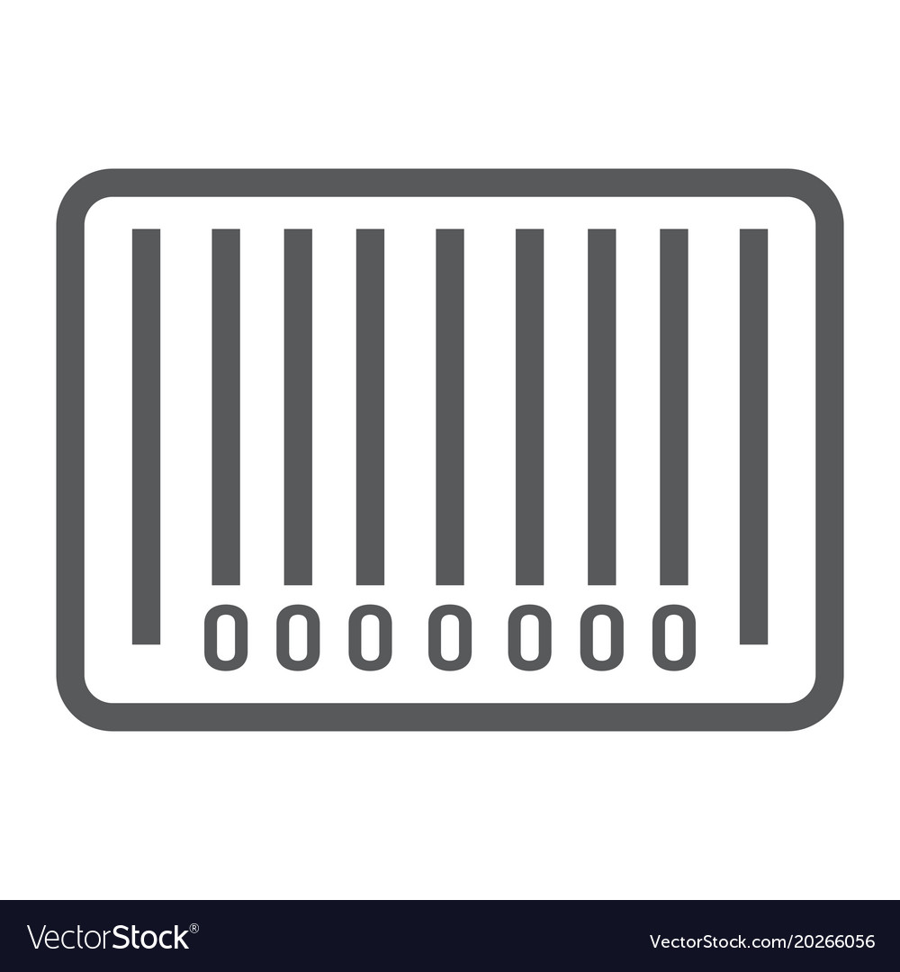 Barcode line icon e commerce and marketing