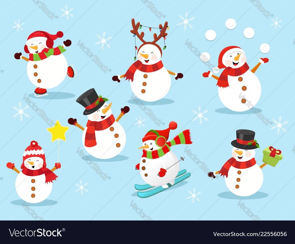 Cute snowman set 2