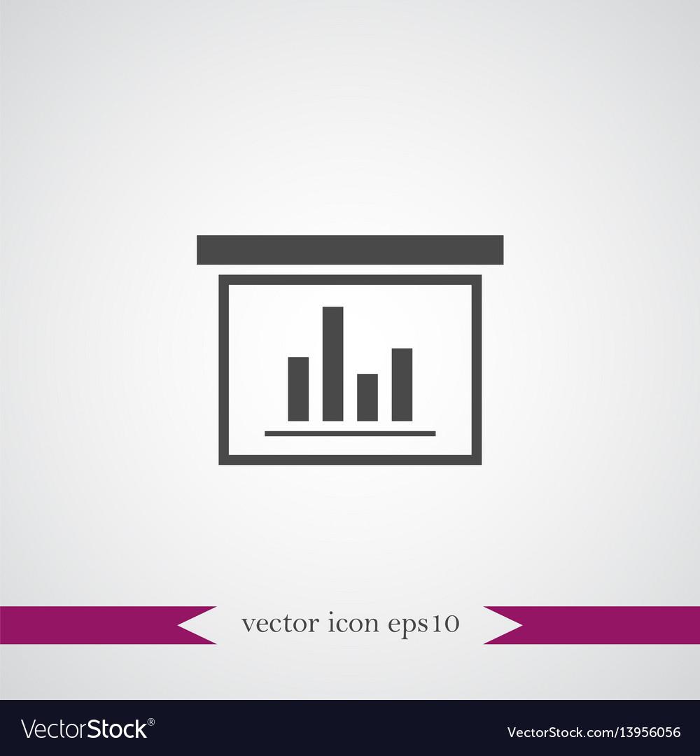 Diagramma icon simple vector image