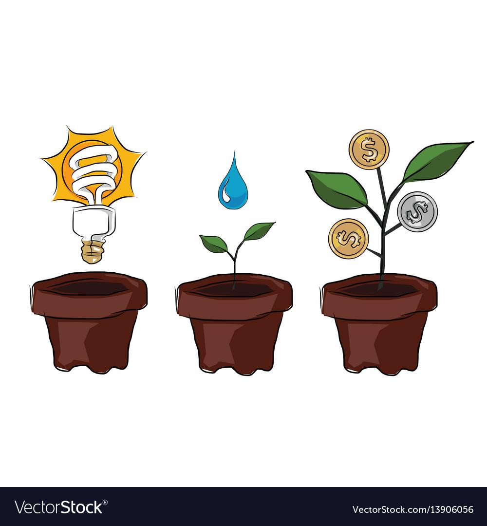 Idea planting creativity and innovation make money