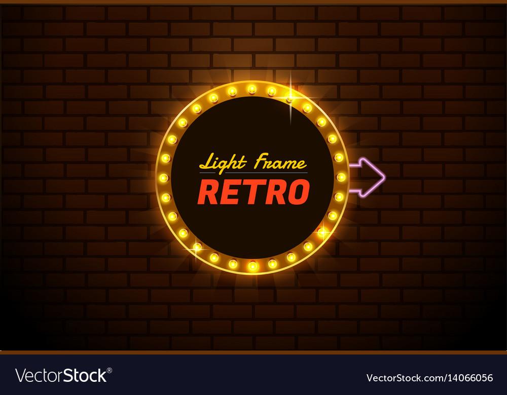 Light frame retro vector image