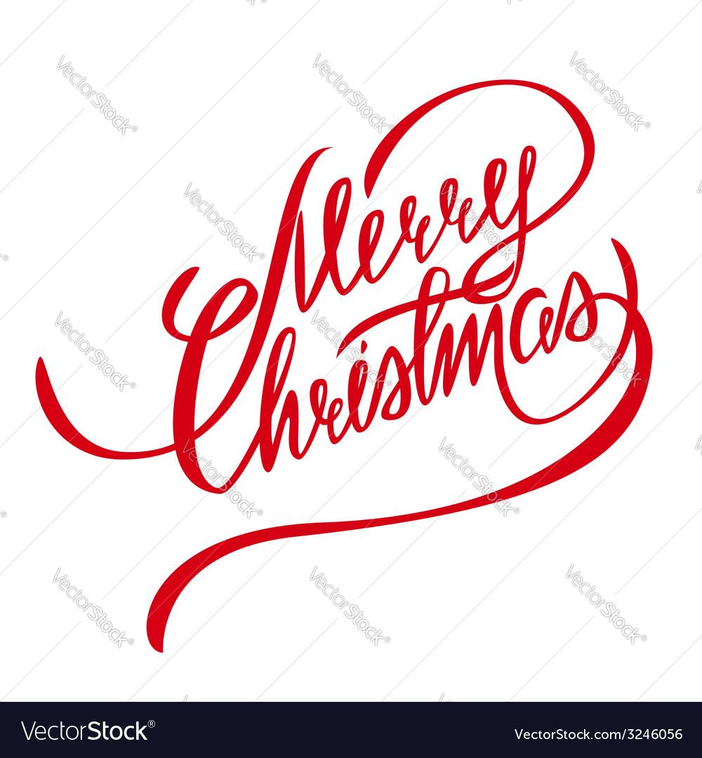 Merry Christmas Lettering - Design Element