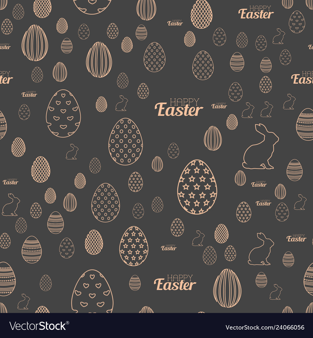Seamless pattern with easter ornaments