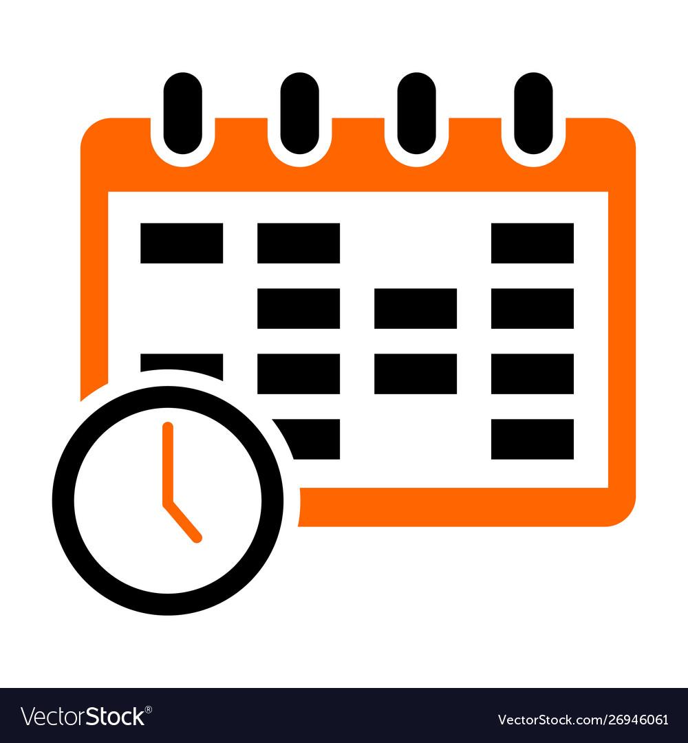 Calendar icon isolated on white background
