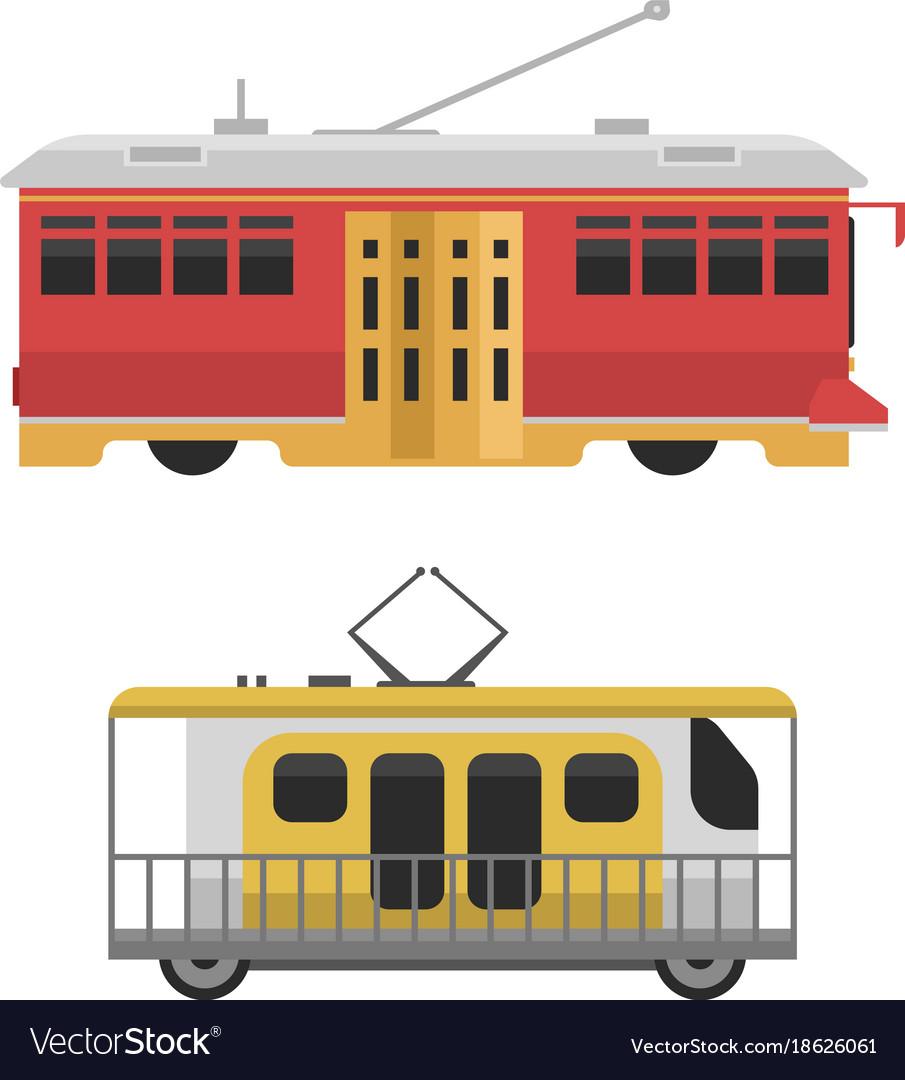 City transport public industry flat