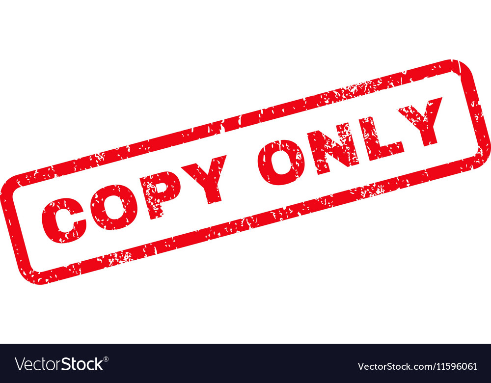 Copy Only Text Rubber Stamp Vector Image