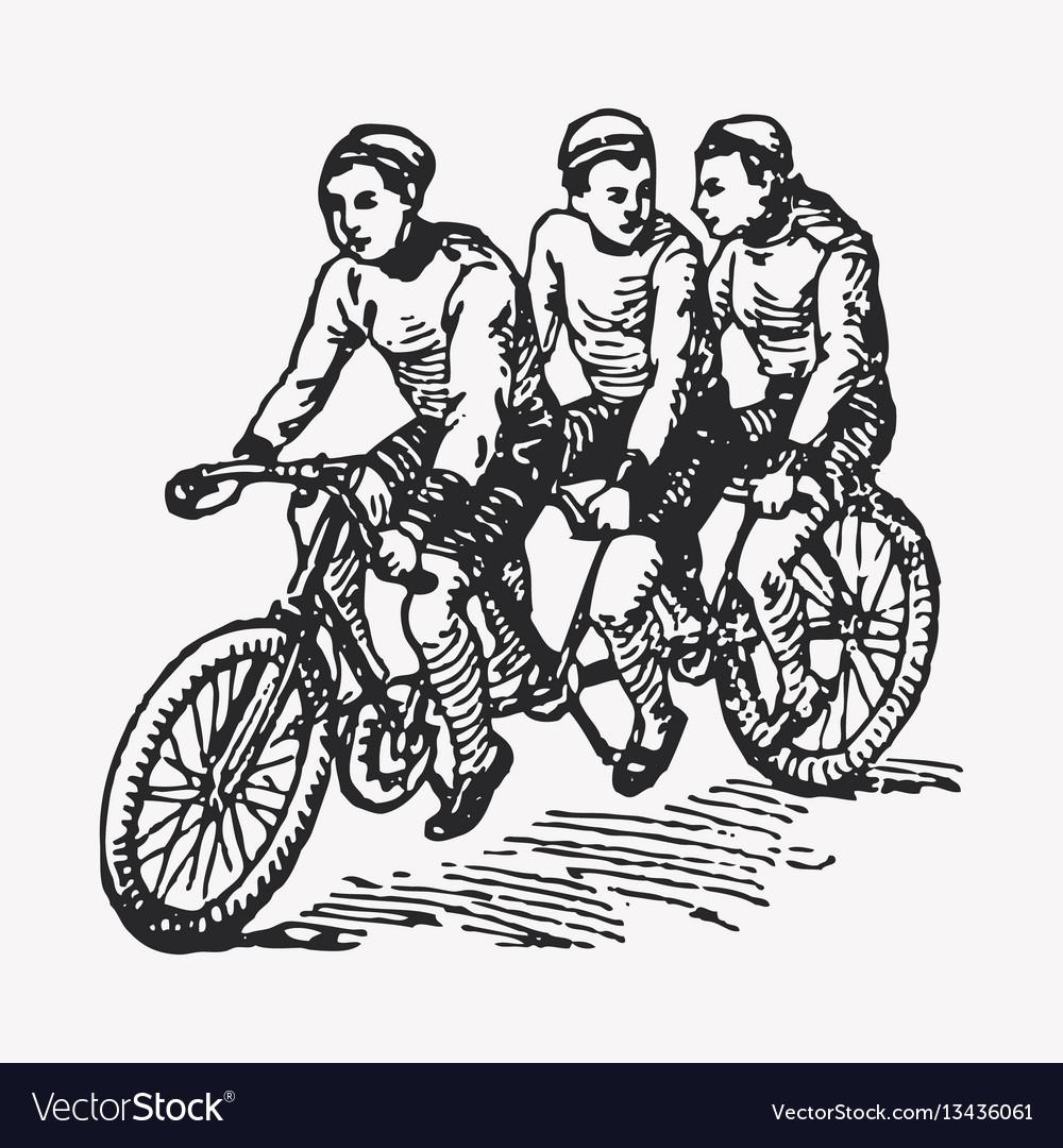 Engraving tandem bike