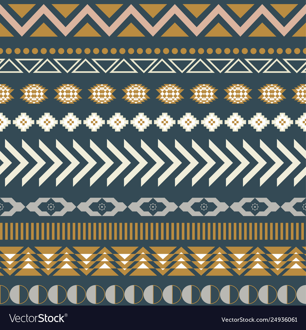 Geometric aztec blue seamless pattern texture