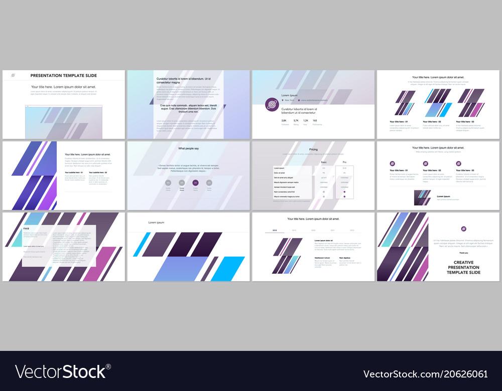 Portfolio Template   Minimal Presentations Portfolio Templates Vector Image