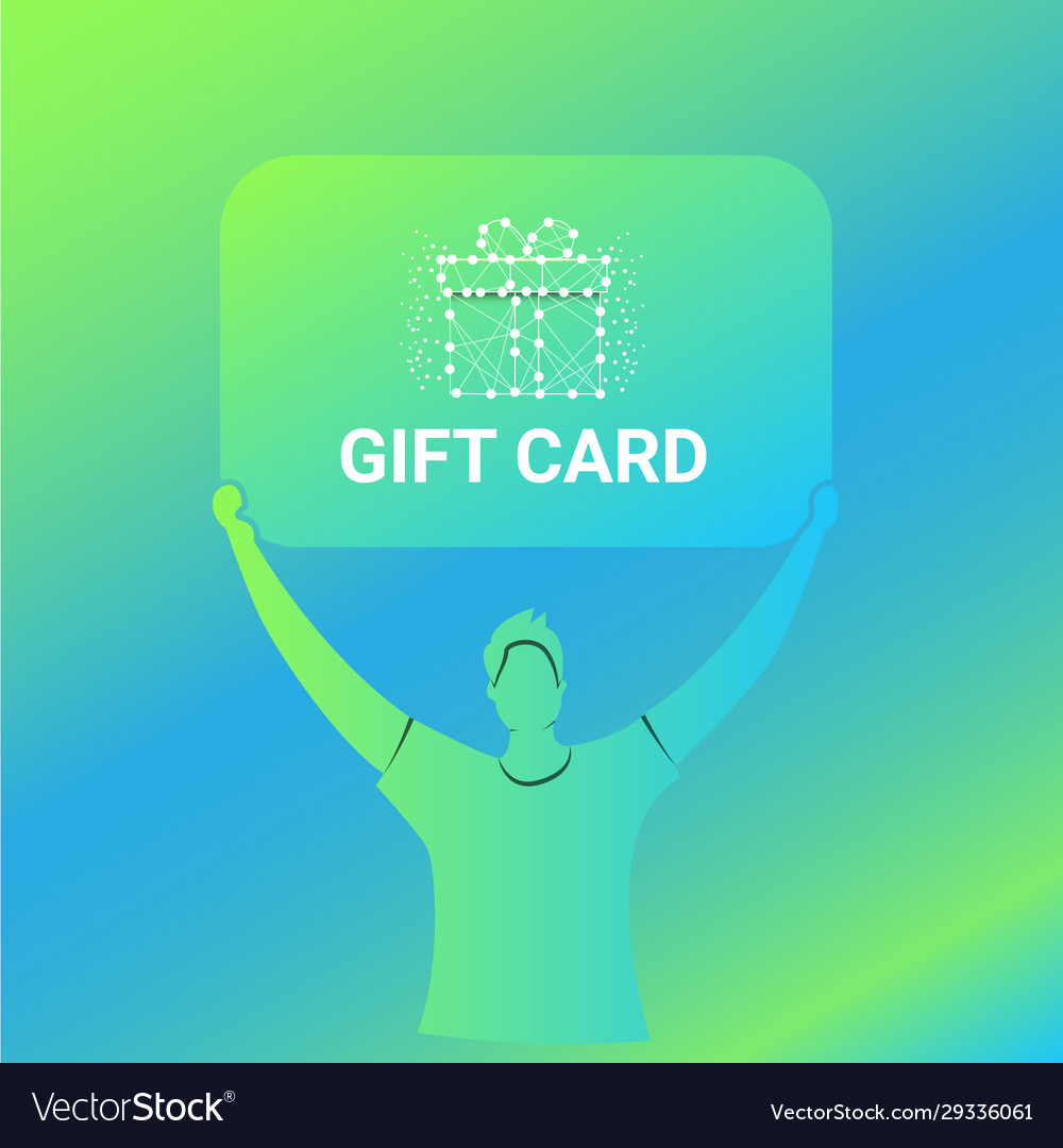 Modern gift card promotion ads