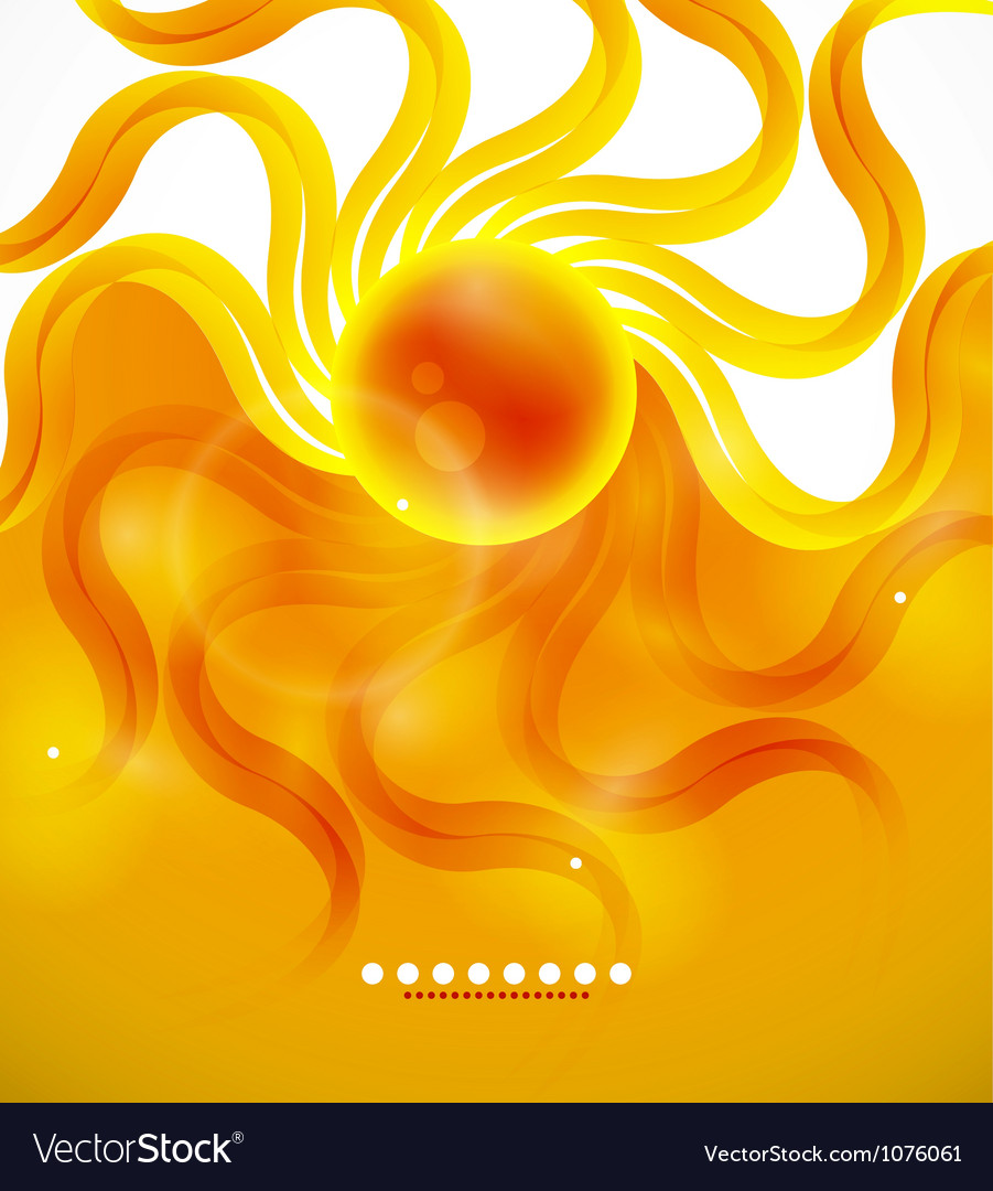 Orange sunshine background