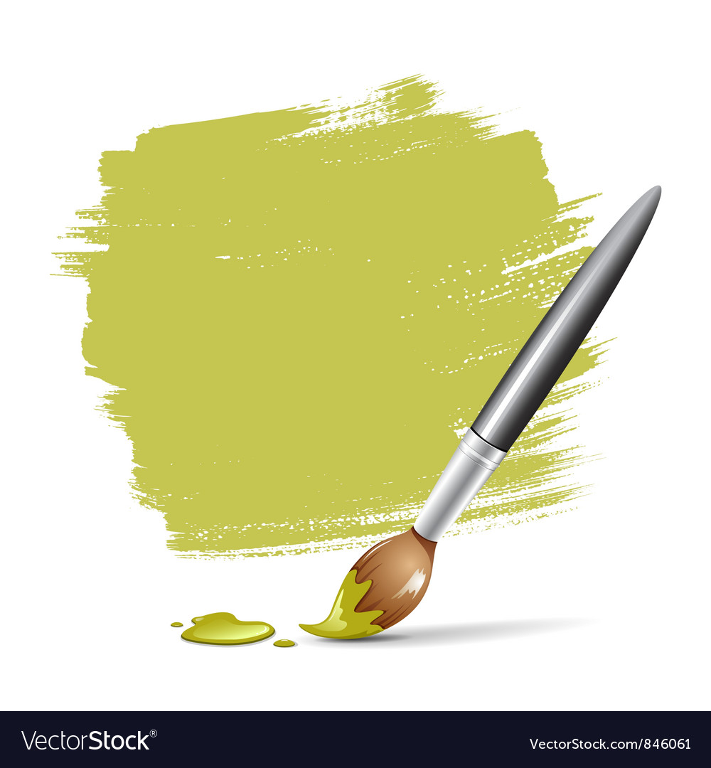 Paint brush green space your text vector image