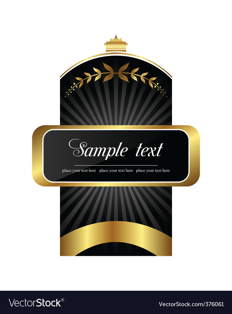 Product label vector image