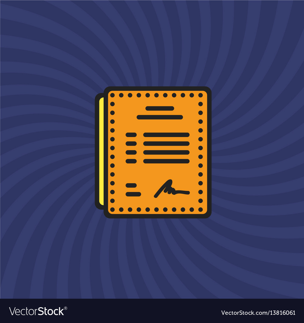 Resume price document icon simple line cartoon vector image