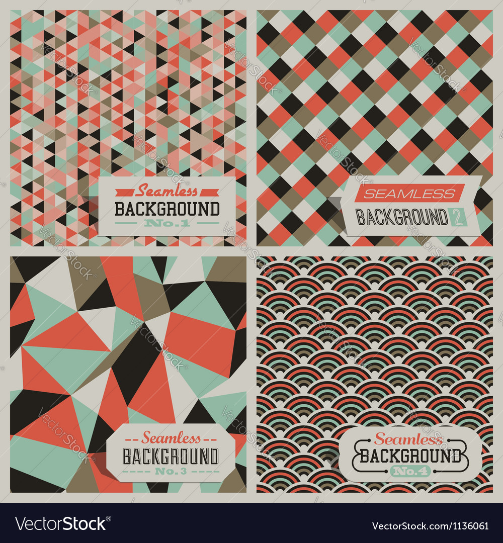 Retro-styled seamless patterns