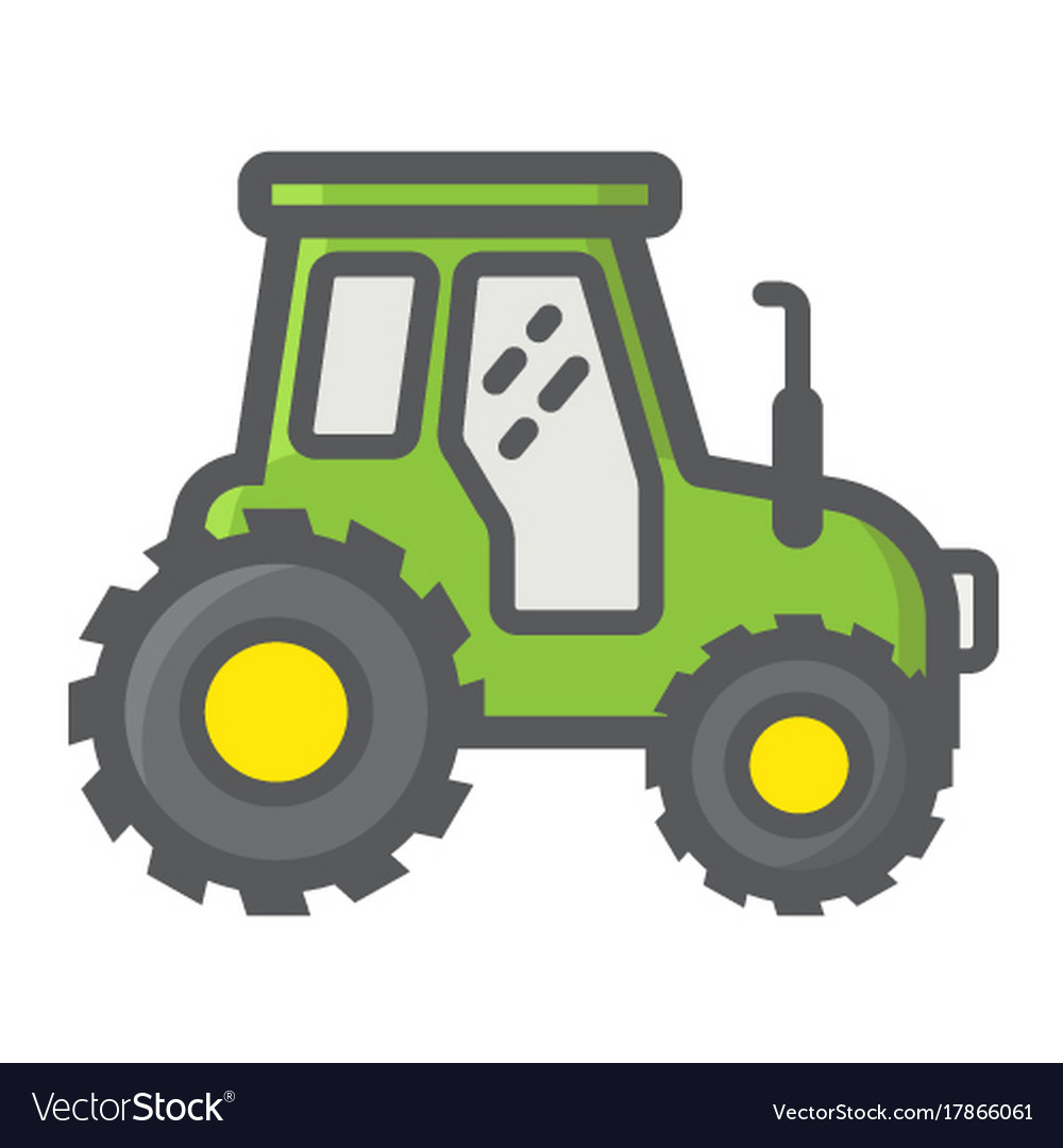 Tractor filled outline icon transport and vehicle