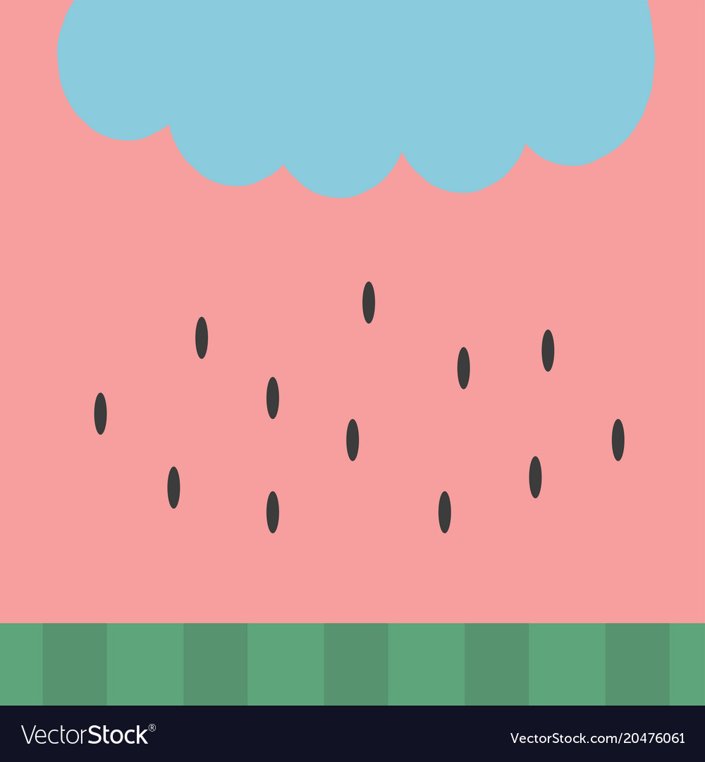 Watermelon Pattern Background Wallpaper Simple Vector Image