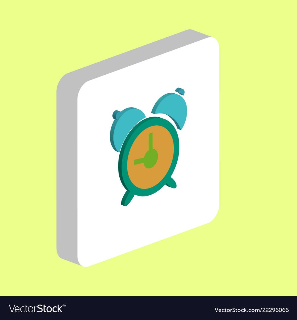 Alarm clock computer symbol