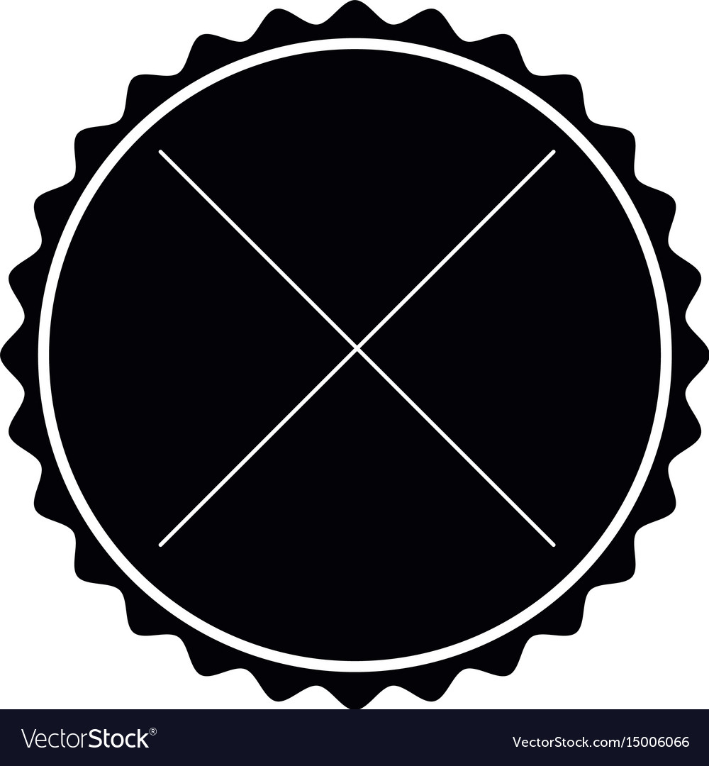 Black label frame decoration sign icon