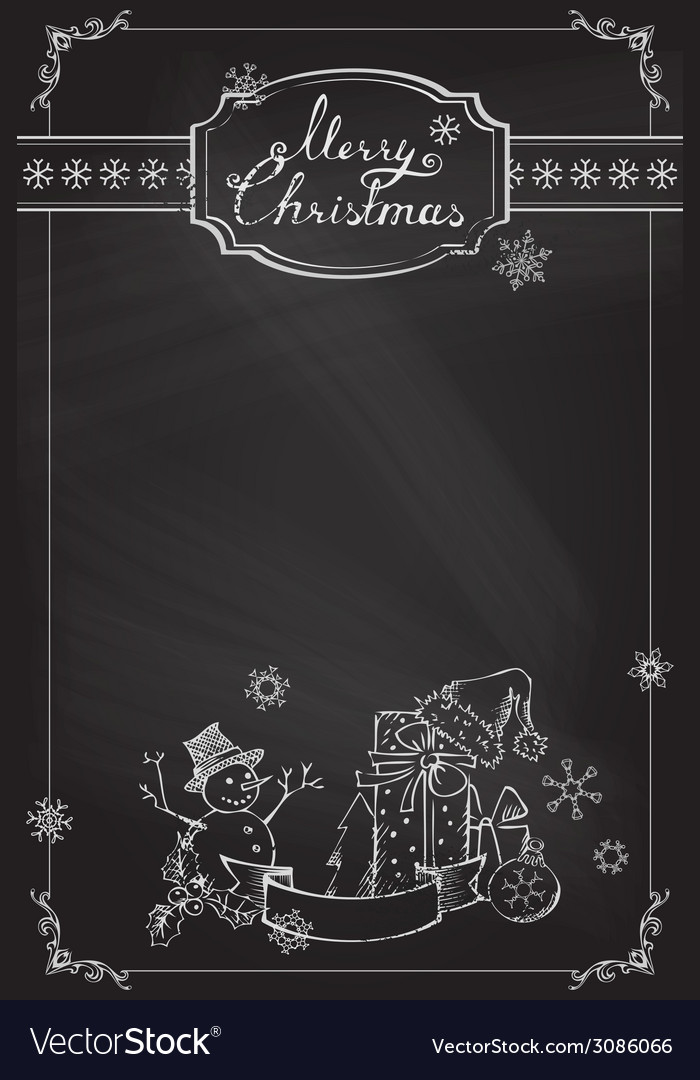 christmas chalkboard background royalty free vector image